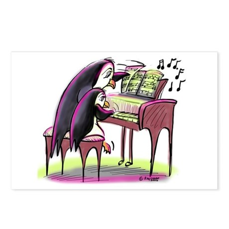 pEnGuIn pIaNiSt Postcards (Package of 8)