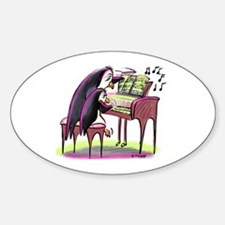 pEnGuIn pIaNiSt Oval Decal