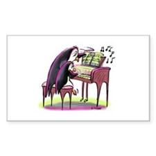 pEnGuIn pIaNiSt Rectangle Decal