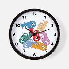 Colorful Euphoniums - Wall Clock