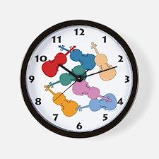 Colorful Violas - Wall Clock
