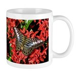 Butterfly on Red Flowers Mug