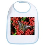 Butterfly on Red Flowers Bib