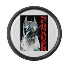Urban Schnauzer Large Wall Clock