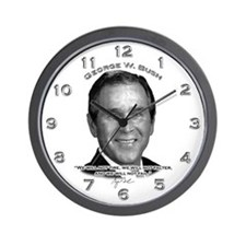 George W. Bush 01 Wall Clock