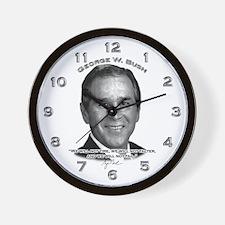 George W. Bush 01 Wall Clock