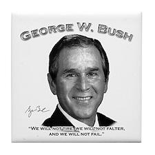 George W. Bush 01 Tile Coaster