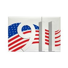 Cute New york 911 world trade center ny wtc Rectangle Magnet (100 pack)