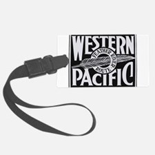 Western Pacific Feather railroad Luggage Tag