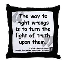 Wells Truth Quote Throw Pillow