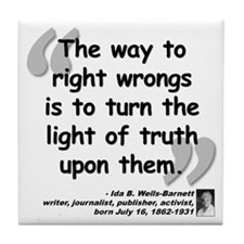 Wells Truth Quote Tile Coaster