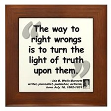 Wells Truth Quote Framed Tile