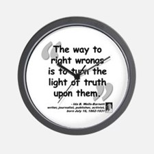 Wells Truth Quote Wall Clock