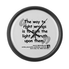 Wells Truth Quote Large Wall Clock