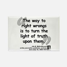 Wells Truth Quote Rectangle Magnet