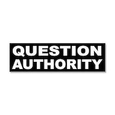 Unique Question authority Car Magnet 10 x 3