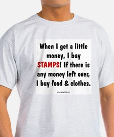 I Buy Stamps Ash Grey T-Shirt