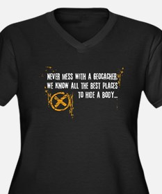 Geocaching - never mess Women's Plus Size V-Neck D