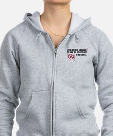 Geocaching - never mess dark red Zip Hoodie