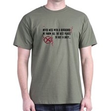 Geocaching - never mess dark red T-Shirt