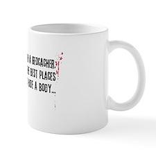 Geocaching - never mess dark red Small Mug