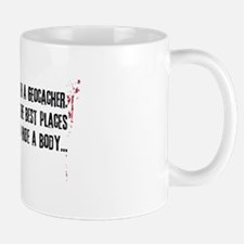 Geocaching - never mess dark red Small Small Mug
