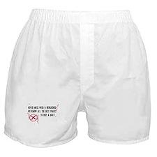 Geocaching - never mess dark red Boxer Shorts