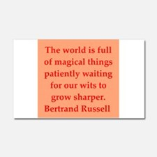 Bertrand Russell quotes Car Magnet 20 x 12