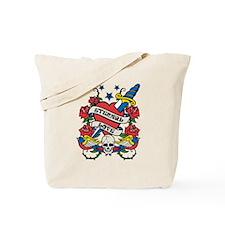 Eternal Love Skull Tattoo Tote Bag