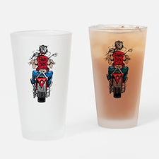 Biker Chick Drinking Glass
