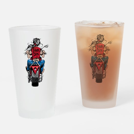 Biker Chick Drinking Glass