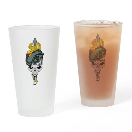 Special Forces Skull Drinking Glass