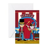 Circus Ringmaster and Clown Cards (Pk of 10)