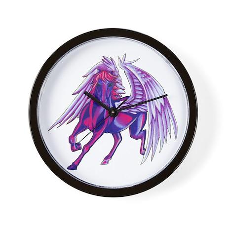 Purple Unicorn Tattoo Wall Clock