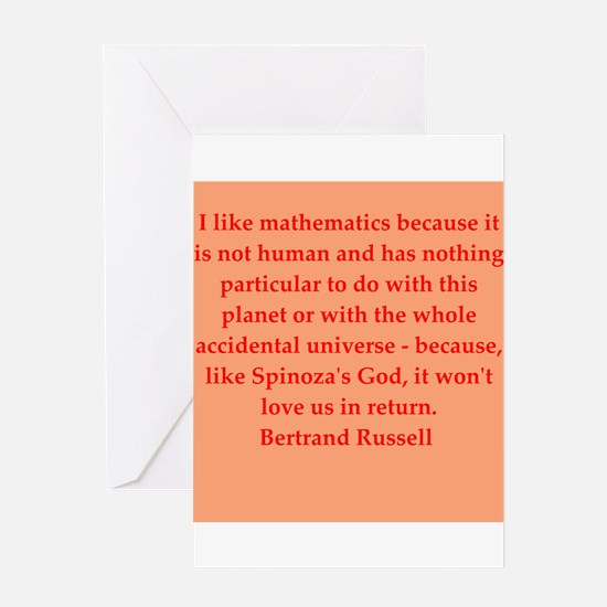 Bertrand Russell quotes Greeting Card