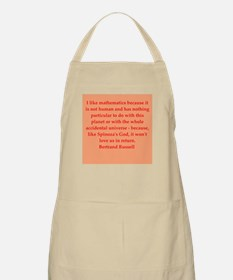 Bertrand Russell quotes Apron