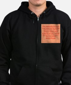 Bertrand Russell quotes Zip Hoodie (dark)