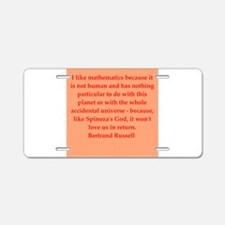Bertrand Russell quotes Aluminum License Plate