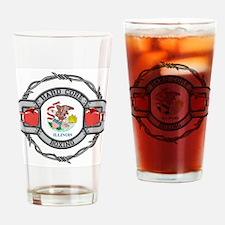 Illinois Boxing Drinking Glass