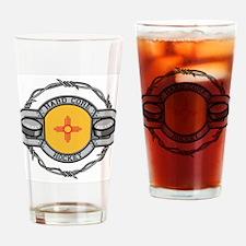 New Mexico Hockey Drinking Glass