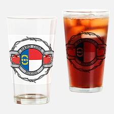 North Carolina Boxing Drinking Glass