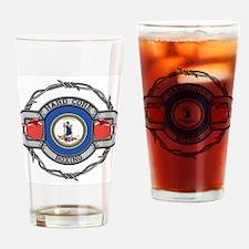 Virginia Boxing Drinking Glass