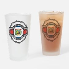 West Virginia Boxing Drinking Glass
