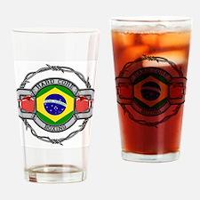 Brazil Boxing Drinking Glass