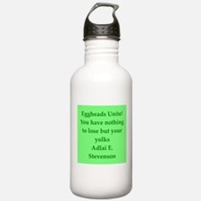 adlai stevenson quote Water Bottle