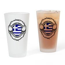 Greece Golf Drinking Glass