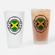 Hardcore Jamaica Soccer Drinking Glass