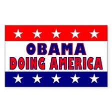Obama Doing America Rectangle Decal