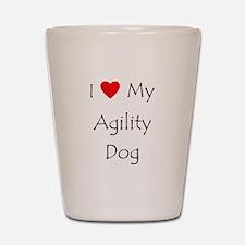 I Love My Agility Dog Shot Glass