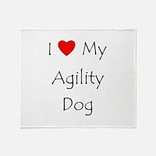 I Love My Agility Dog Throw Blanket